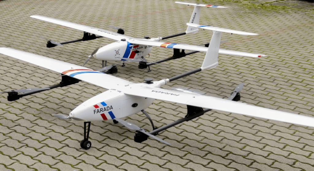 The Unmanned Aircraft Systems (UAS) used in the project were equipped with the Aerobits transceiver TR-1A